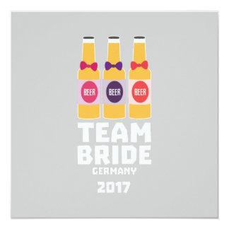 Cartão Noiva Alemanha da equipe 2017 Z36e6