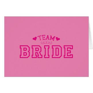 Cartão Noiva da equipe