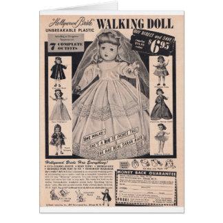 Cartão noiva de passeio de Hollywood da boneca dos anos