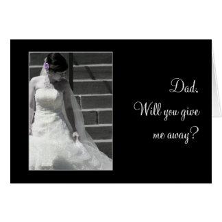 Cartão Noiva do casamento