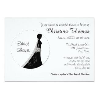 Cartão Noiva do círculo - chá de panela