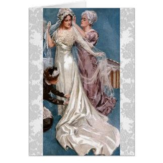 Cartão Noiva do vintage