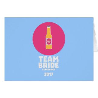Cartão Noiva Edimburgo da equipe Henparty 2017 Z513r