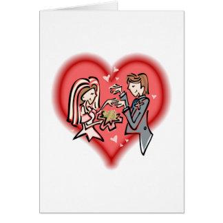 Cartão Noiva lésbica & noivo