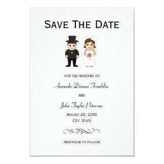 Cartão Noiva & noivo - 3x5 salvar a data
