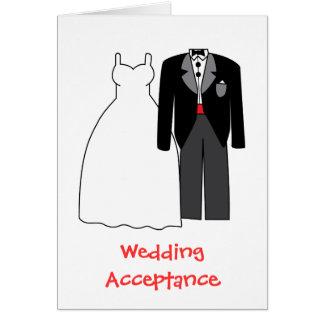 Cartão Noiva & noivo da aceitação do casamento