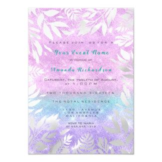 Cartão Noiva Sparkly floral de Ombre do brilho violeta de