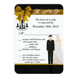 Cartão noiva uniforme Soldi do noivo do EXÉRCITO do
