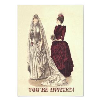 Cartão Noivas e dama de honra nupciais do partido do