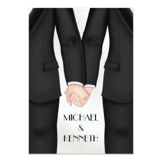 Cartão Noivo alegre elegante do casamento que guardara as