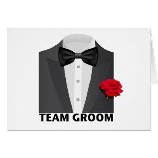 Cartão Noivo da equipe (tux)
