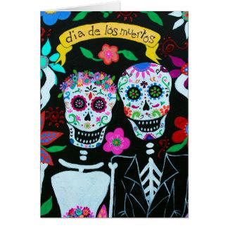Cartão Noivos de Diâmetro de los Muertos por Prisarts