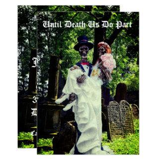 Cartão Noivos de esqueleto góticos