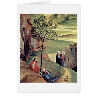 Cartão Noli mim Tangere por Hans Memling