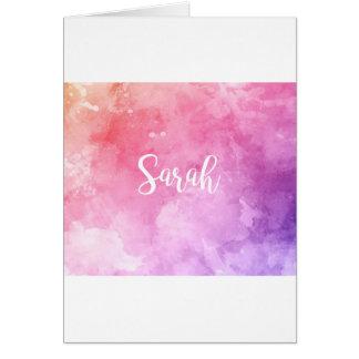 Cartão Nome de Sarah