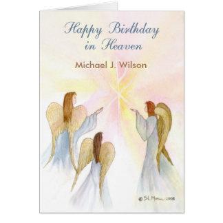 Cartão Nome feito sob encomenda do aniversário celestial,