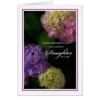 Cartão Nora do dia das mães, Hydrangea pintado