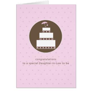 Cartão Nora, felicitações do bolo do chá de panela