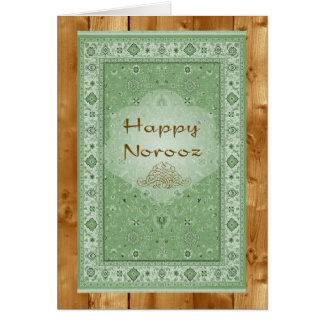 Cartão Norooz feliz, tapete persa