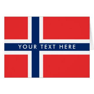Cartão norueguês do costume da bandeira
