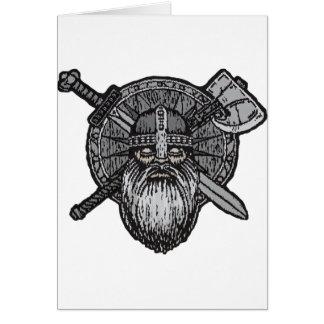 Cartão noruegueses nórdicos germânicos do homem de