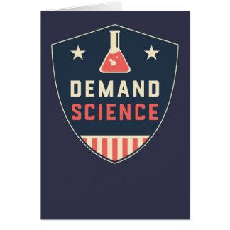 Cartão Nós as pessoas da ciência da procura em América