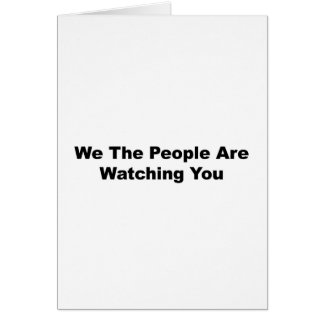 Cartão Nós as pessoas estamos olhando-o