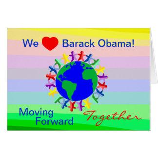 Cartão Nós coração Barack Obama! Voto em 11/06/12