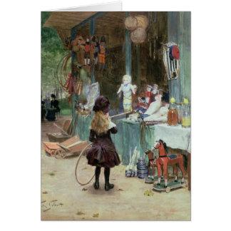 Cartão Nos jardins de Champs-Elysees, c.1897 (gouache
