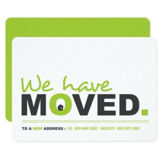 Cartão Nós movemos partido movente do Housewarming do