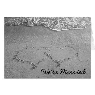 Cartão nós somos casados (o vazio)