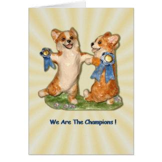 Cartão Nós somos os campeões!