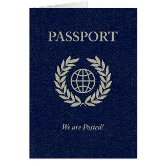 Cartão nós somos passaporte postado