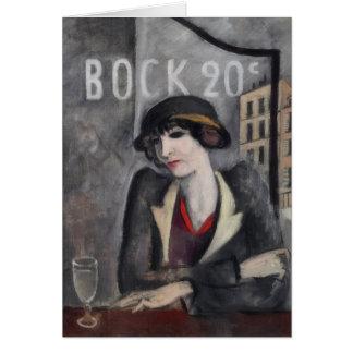 Cartão Nos subúrbios da arte do vintage de Paris