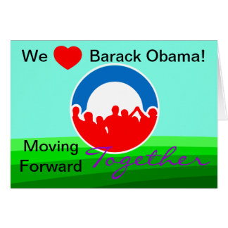 Cartão Nós voto de Barack Obama do coração em 11/06/12