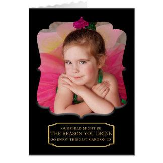 Cartão Nossa criança pôde ser a razão que você bebe