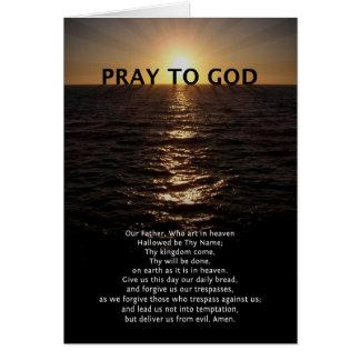 Cartão Nossa oração do pai