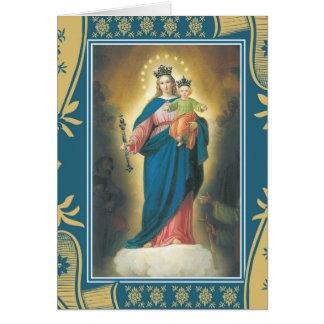 Cartão Nossa senhora Ajuda do memorial de oferecimento