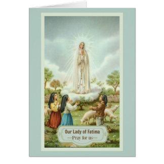 Cartão Nossa senhora da oração do perdão das crianças de
