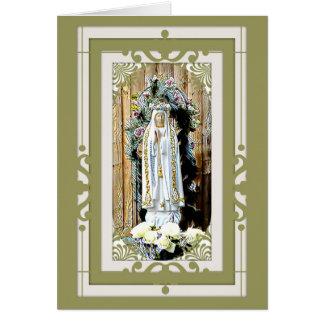 Cartão Nossa senhora de Fatima