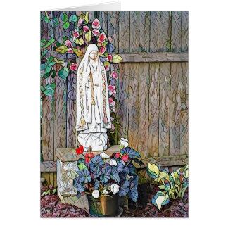Cartão Nossa senhora de Fatima um aniversário de 100 anos