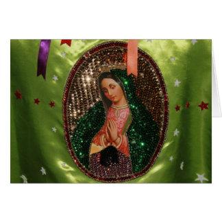 CARTÃO: Nossa senhora de Guadalupe no pano, MÉXICO Cartão