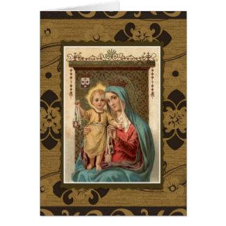 Cartão Nossa senhora do memorial de oferecimento da massa