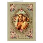 Cartão Nossa senhora dos rosas do rosário w/Baby Jesus