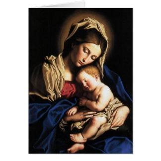 """Cartão """"Nossa Senhora e menino Jesus"""""""