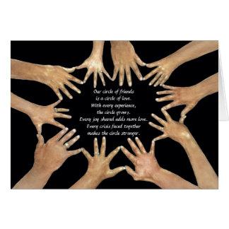 Cartão Nosso círculo dos amigos