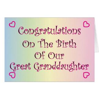Cartão Nosso excelente - neta