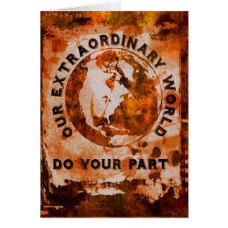 Cartão Nosso mundo extraordinário - faça sua parte