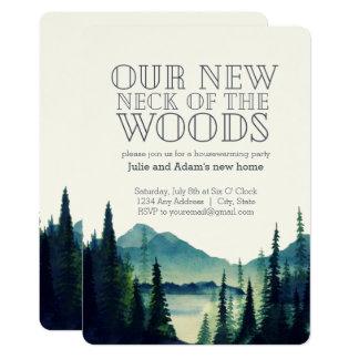 Cartão Nosso pescoço novo do partido do Housewarming das