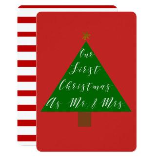 Cartão Nosso primeiro Natal como o Sr. e a Sra.